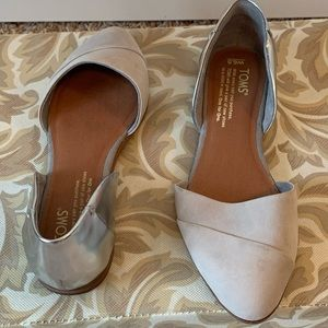 Toms Grey and Silver Flats- Size 6.5